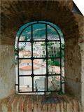 Castello Ruffo, Town View from Castle Window, Scilla, Calabria, Italy Art by Walter Bibikow