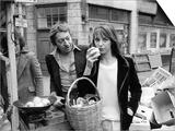 Jane Birkin and Serge Gainsbourg in London Shopping in Berwick Street Market Posters