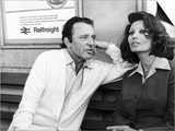 "Actress Sophia Loren with Richard Burton Rehearse For an Association TV Film ""Brief Encounter"" Art"