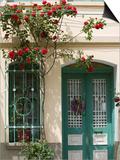 Village Doorway, Agiasos, Lesvos, Mytilini, Aegean Islands, Greece Posters by Walter Bibikow