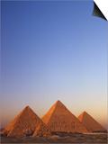 Giza Pyramid, Giza Plateau, Old Kingdom, Egypt Kunst af Kenneth Garrett