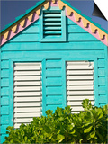 Colorful Cottage at Compass Point Resort, Gambier, Bahamas, Caribbean Prints by Walter Bibikow