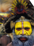 Huli Wigman, Tari, Papua New Guinea, Oceania Posters by Michele Westmorland