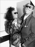 Whitney Houston and Stevie Wonder American Singers Back Stage at Nelson Mandela Birthday Concert Posters