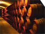 Barrels of Tokaj Wine in Disznoko Cellars, Hungary Posters by Per Karlsson