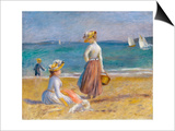 Figures on the Beach Poster by Pierre-Auguste Renoir