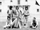 The Rolling Stones with Union Jack Flag in 1975 at the Alamo Prints