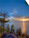 Sunset at Logan Shoals on the East Side of Lake Tahoe, Nevada, USA Art by Tom Norring