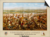 Custer's Last Fight Color Print from Painting Art