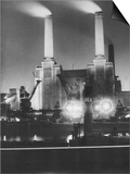 Coal Ships Unload at Battersea Power Station, July 1950 Posters