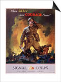 Signal Corps Recruitment Poster Poster by Jes Schlaikjer