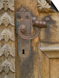 Old Door Handle, Ceske Budejovice, Czech Republic Prints by Russell Young