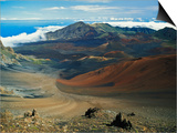 Cinder Cone Crater at Haleakala's Summit, Maui, Hawaii, USA Poster by Adam Jones