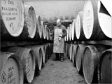 An Employee of the Knockando Whisky Distillery in Scotland, January 1972 Prints