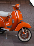 Vespa Scooter, Llanes, Spain Poster by Walter Bibikow