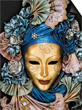 Venetian Paper Mache Mask Worn for Carnivals and Festive Occasions, Venice, Italy Posters by Dennis Flaherty