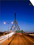 Traffic Lights on Leonard P. Zakim Bunker Hill Bridge, I-93, Boston, Massachusetts, Usa Posters by Paul Souders