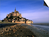 Mont St. Michel Island Fortress, Normandy, France Prints by Bill Bachmann
