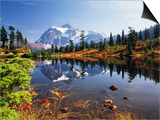 Mt Shuksan with Picture Lake, Mt Baker National Recreation Area, Washington, USA Art by Stuart Westmorland
