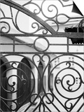 Detail of Metal Gate, Domplatz, Salzburg, Austria Prints by Walter Bibikow