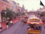 Main Street USA, Walt Disney World, Magic Kingdom, Orlando, Florida, USA Print by Nik Wheeler