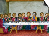 The Last Supper, Jesus, Codex of Predis (1476), Royal Library, Turin, Italy Posters by  Prisma