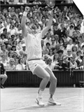German Wonder Boy Boris Becker Raises Arms in Triumph After Winning the Wimbledon Crown Prints