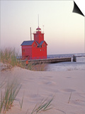Big Red Holland Lighthouse, Holland, Ottowa County, Michigan, USA Print by Brent Bergherm