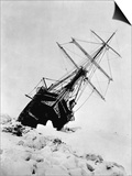Ernest Shackleton's Expedition Ship Endurance Trapped in Ice Plakat