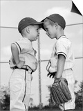 1960s Two Boys Playing Baseball Arguing Prints