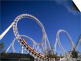 Boardwalk Roller Coaster, Ocean City, Maryland, USA Poster by Bill Bachmann