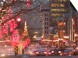 Avenue McGill College with Christmas Decor, Montreal, Quebec, Canada Prints by Walter Bibikow