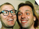 Comedians Rik Mayall and Adrian Edmondson Looking Stupid Posters