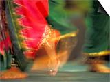 Indian Cultural Dances, Port of Spain, Trinidad, Caribbean Poster by Greg Johnston