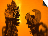 Theatre Display of Balinese Shadow Puppets or Wayang, Ubud, Bali, Indonesia Posters by Philip Kramer