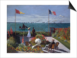 Terrasse A Sainte-Adresse (Terrace at Sainte-Adresse) Prints by Claude Monet
