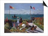Terrasse A Sainte-Adresse (Terrace at Sainte-Adresse) Prints by Claude Monet