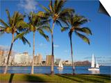 Ala Moana Beach Park, Waikiki, Honolulu, Oahu, Hawaii, USA Posters by Douglas Peebles