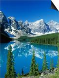 Wenkchemna Peaks and Moraine Lake, Banff NP, Alberta, Canada Poster by Adam Jones