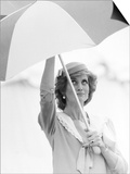 Princess Diana in Berkshire on a Stormy Day June 1985 Posters