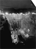 Boulder Dam under Construction Print by Gabriel Moulin