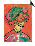 Young Girl with a Flowered Hat Prints by Alexej Von Jawlensky
