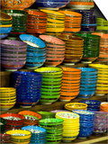 Bowls and Plates on Display, for Sale at Vendors Booth, Spice Market, Istanbul, Turkey Poster by Darrell Gulin