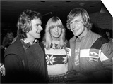 James Hunt with Barry Sheene and His Girlfriend Stephanie Mclean at Brands Hatch Art