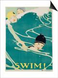 Swim! Poster Poster by Anita Parkhurst