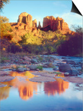 Cathedral Rock Reflecting on Oak Creek, Sedona, Arizona, USA Prints by Christopher Talbot Frank