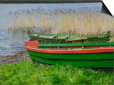 Colorful Canoe by Lake, Trakai, Lithuania Art by Keren Su