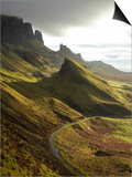 Road Ascending the Quiraing, Isle of Skye, Scotland Poster by David Wall