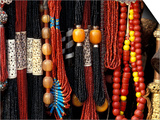 Color Bead Strands, Katmandu, Nepal Prints by Art Wolfe