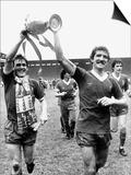Footballer Liverpool FC Kenny Dalglish Graeme Souness Alan Hansen Celebrating Winning Championship Art